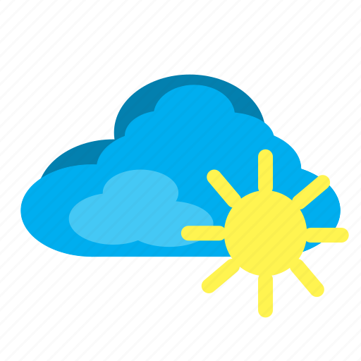 cloud, elements, sun, weather icon