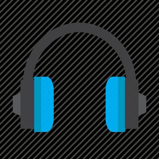 audio, head set, headphones, listening, music, sound icon