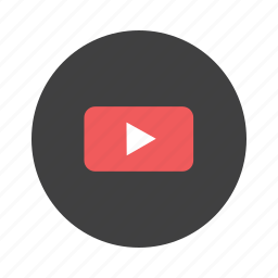 media, movies, play, player, video, youtube icon