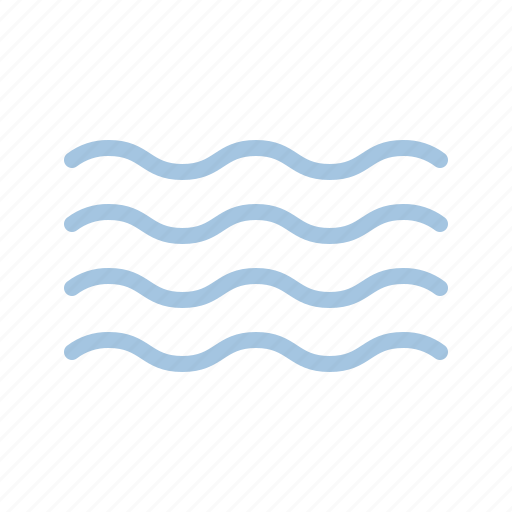 water, wave, weather icon