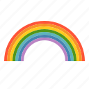 bright, colorful, rainbow, weather icon