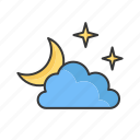 sun, weather, cloud, forecast, sunny, moon, sky