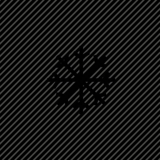 climate, cold, roundedblack, sleet, snow, weather icon