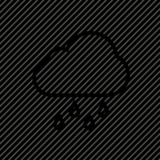 climate, rain, raining, roundedblack, shower, showers, weather icon