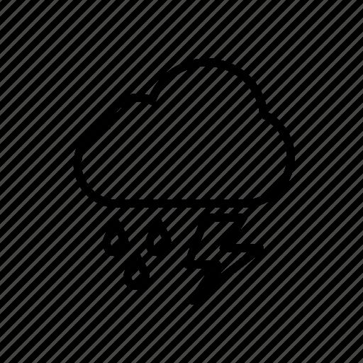 climate, roundedblack, shower, thunder, thundershower, weather icon