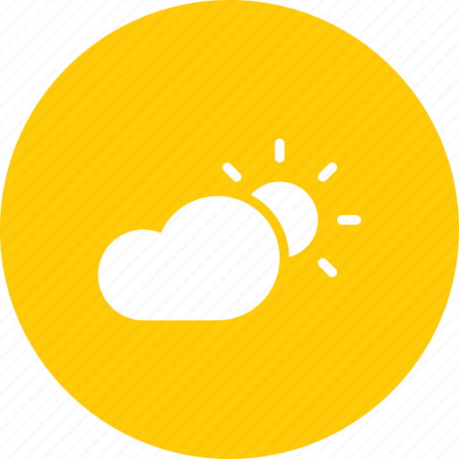 cloud, cloudy, day, daytime, forecast, sun, weather icon