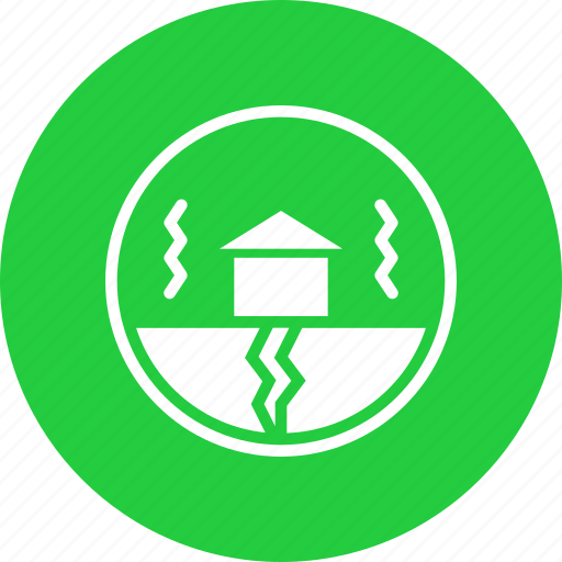 building, disaster, earthquake, natural, shake, vibration icon
