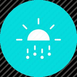 day, daytime, forecast, hail, rain, stone, sun icon