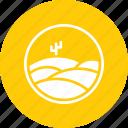 cactus, desert, dunes, landscape, sand icon