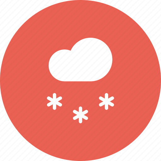 cloud, forecast, snow, snowfall, weather icon