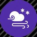cloud, forecast, snow, snowfall, storm, wind