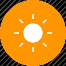 forecast, heat, sun, sunny, weather icon