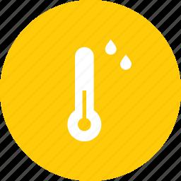 forecast, humidity, measurement, precipitation, rainfall, temperature, thermometer icon