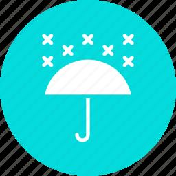 snow, snowfall, umbrella icon