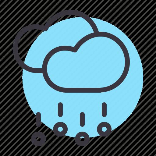 cloud, clouds, forecast, hail, rain, rainfall, stone icon