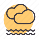 cloud, cloudy, fog, foggy, forecast, frost, mist icon