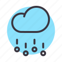 cloud, forecast, hail, rain, stone, storm, weather icon