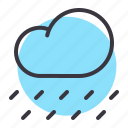 cloud, cloudy, forecast, rain, rainfall, raining, weather icon