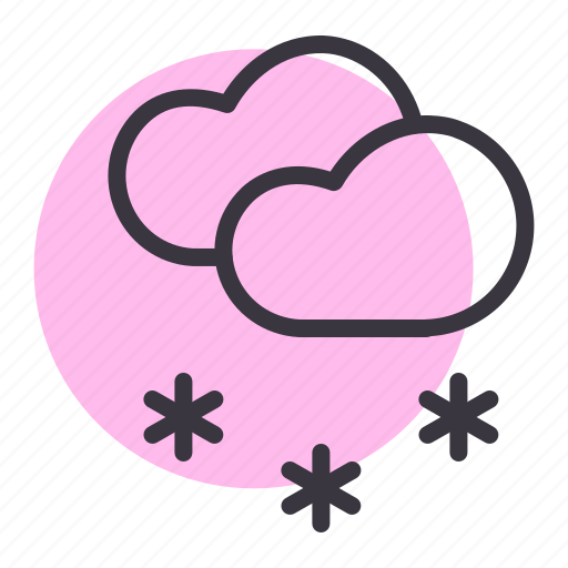 cloud, cloudy, forecast, snow, snowfall, waether, winter icon