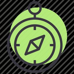 compass, direction, gps, nautical, navigation, wayfinding icon