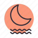 fog, foggy, forecast, mist, misty, moon, night icon
