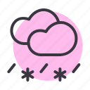 cloud, clouds, rain, rainfall, sleet, snow, snowfall icon