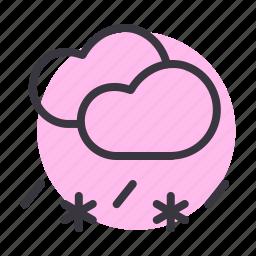 cloud, clouds, rain, rainfall, sleet, snow, snowfall icon