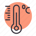 celsius, centigrade, degree, forecast, reading, temperature, thermometer icon