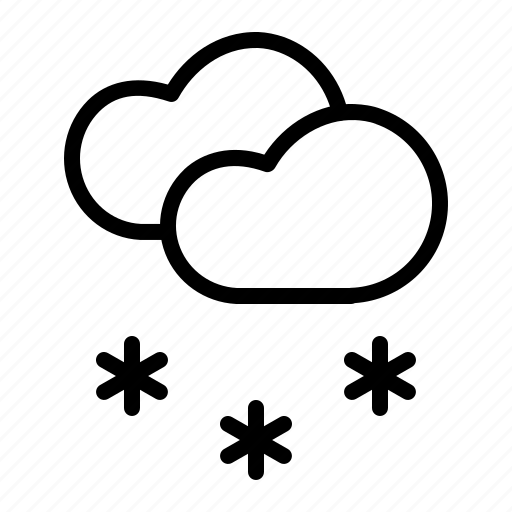 cloud, cloudy, forecast, snow, snowfall, waether, winter icon