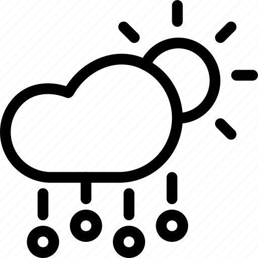 cloud, day, daytime, forecast, hail, rain, stone icon