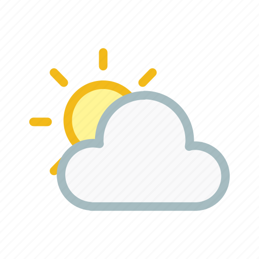 cloud, clouds, cloudy, forecast, partly, sun, weather icon