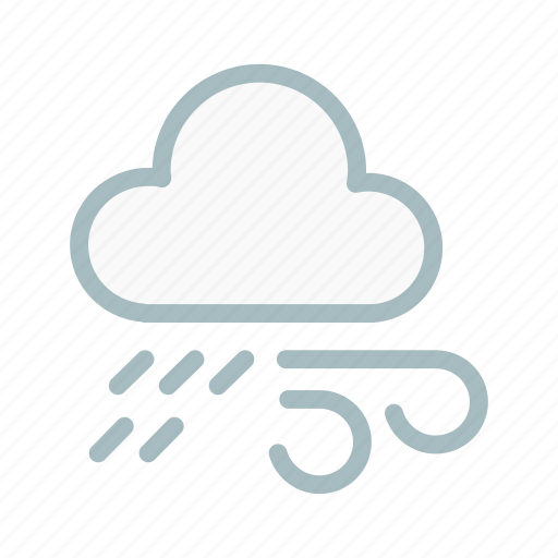 cloud, cloudy, forecast, lightning, rain, weather, wind icon