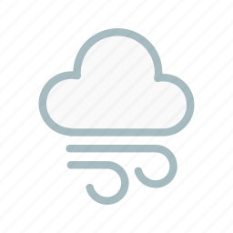 cloud, cloudy, forecast, lightning, storm, weather, wind icon