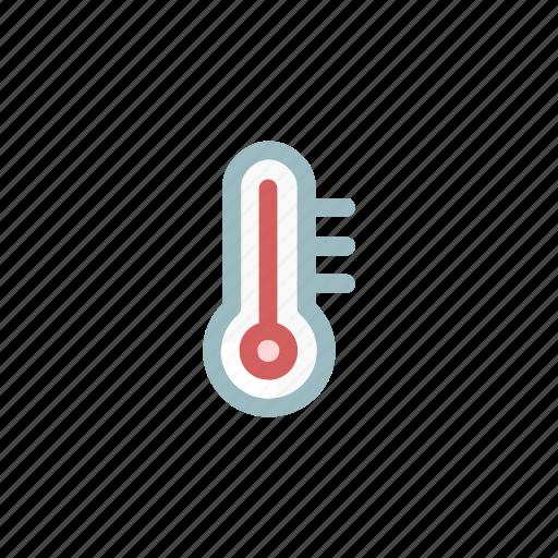 fever, heat, hot, measurement, mercury, temperature, weather icon