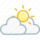 cloud, clouds, forecast, sun, sunny, thunder, weather icon