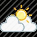 cloud, clouds, forecast, sun, sunny, thunder, weather