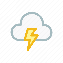 cloud, cloudy, forecast, light, lightning, thunder, weather icon