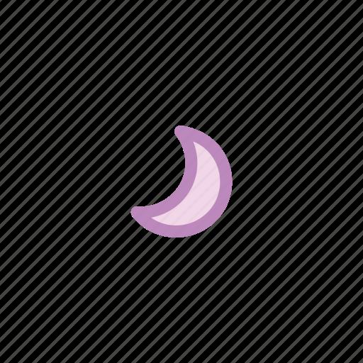 forecast, half, light, moon, night, thunder, weather icon