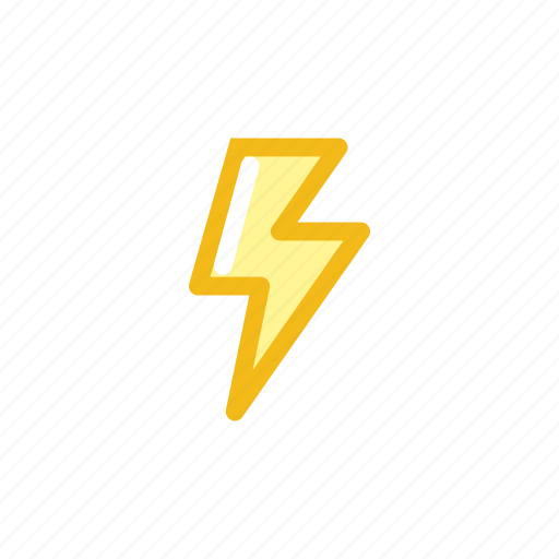 crash, electricity, forecast, lightning, storm, thunder, weather icon
