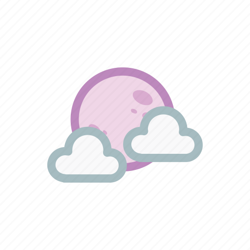 colud, moon, nature, rainbow, sky, vision, weather icon