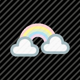 colud, nature, rainbow, sky, sun, vision, weather icon