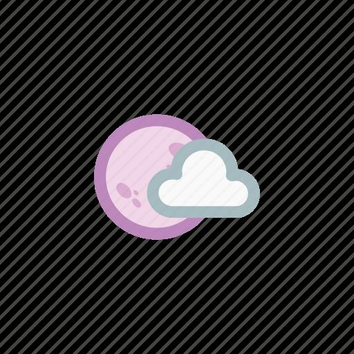 cloud, dark, fullmoon, moon, night, shade, weather icon