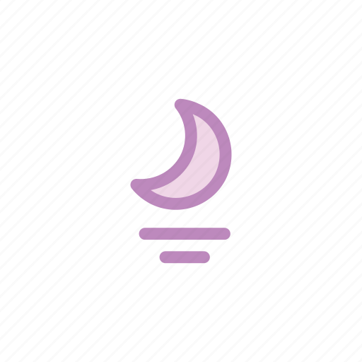 atmosphear, moon, moonset, natural, nature, sea, weather icon