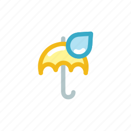 device, drib, drop, protection, rain, security, umbrella icon