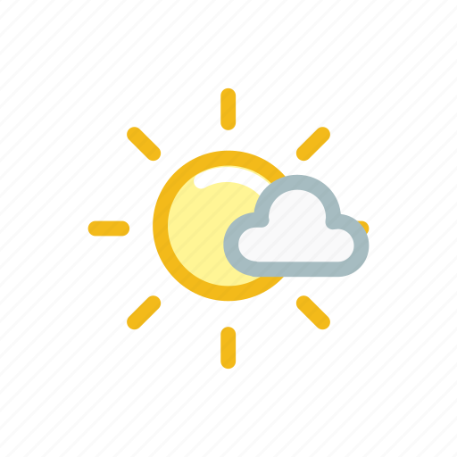 cloud, forecast, nature, sky, sun, sunny, weather icon