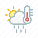 cloud, cloudy, forecast, run, sun, temprature, weather icon
