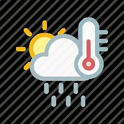 cloud, cloudy, forecast, run, sun, temprature, weather icon