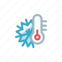 flake, forecst, measure, snow, snowfall, temperature, weather icon