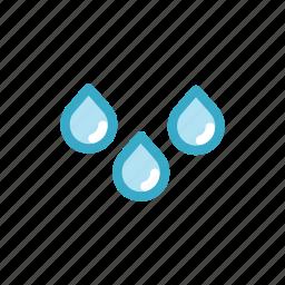 drib, drop, heavy, rain, sky, waterdrop, weather icon