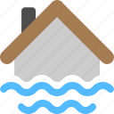 disaster, flood, natural disasters icon